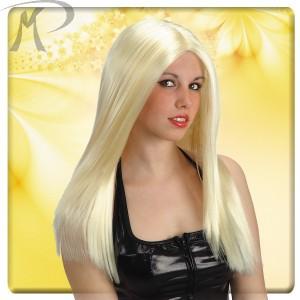 Parrucca Top girl bionda in valigetta