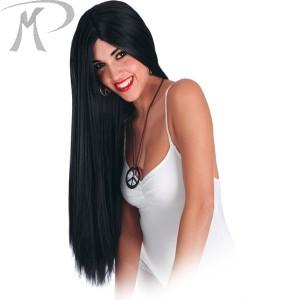 Parrucca Nera lunghissima in busta