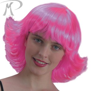 Parrucca Meg rosa in busta