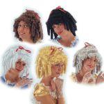 Parrucca Principessa colori assortiti in valigetta