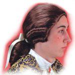 Parrucca Cavaliere castano in valigetta