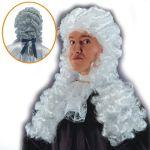 Parrucca Giudice bianco in valigetta
