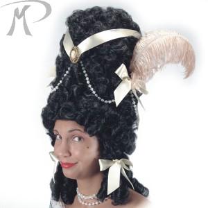 Parrucca Pompadour nera con decorazioni Prezzo 35,20 €