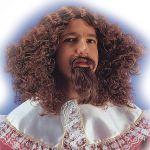 Parrucca Moschettiere con pizzo e baffi