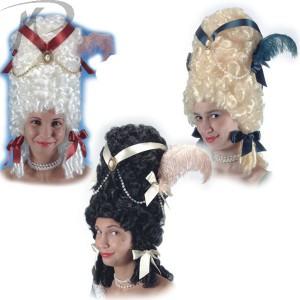 Parrucca Pompadour colori assortiti con decorazioni Prezzo 39,00 €