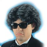 Parrucca Play Boy (occhiali esclusi) in valigetta
