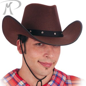 CAPPELLO COW-BOY MARRONE IN FELTRO Prezzo 6,30 €