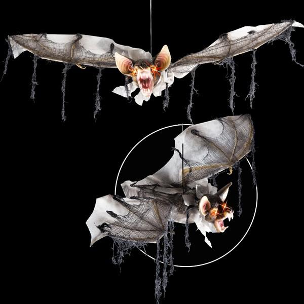 Pipistrello animato sonoro con occhi luminosi d app largh