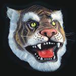 MASCHERA TIGRE IN FINGOMMA IN BUSTA C/CAVALLOTTO