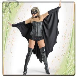 Costumi Carnevale adulto | MANTELLO DONNA PIPISTRELLO IN DAINETTO con MANICOTTI LUNGH.CM. 125 Prezzo 23,30 €