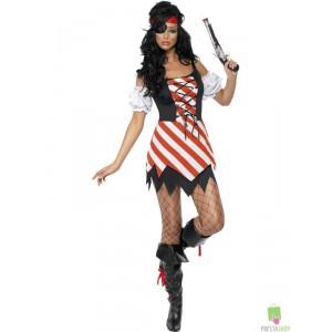 Costumi Carnevale Sexy | CORSARA SEXY RIGHE ROSSE Prezzo 18,50 €