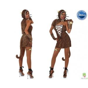Costumi carnevale Donna | COSTUME DONNA LEOPARDO Prezzo 21,20 €