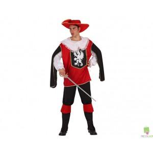 Costumi Carnevale adulto | COSTUME MOSCHETTIERE ROSSO LUX Prezzo 27,30 €