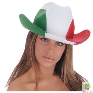 CAPPELLO COW-BOY ADULTO ITALIA IN FELTRO