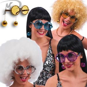 OCCHIALI DISCO DANCE con ORECCHINI colori assortiti SU CARTONCINO Prezzo 4,10 €