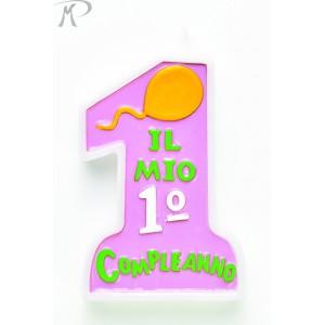 CANDELINA COMPLEANNO ROSA Prezzo 2,50 €