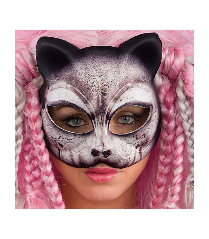 Maschera gatto in tessuto euro - Pagina colorazione maschera gatto ...