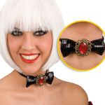 PAPILLON IN PAILLETTES NERO CON GEMMA