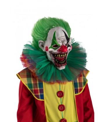 Maschera clown capelli verdi euro