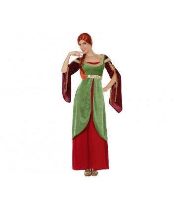 Costumi carnevale Donna | COSTUME DAMA MEDIEVALE VERDE Prezzo 28,30 €