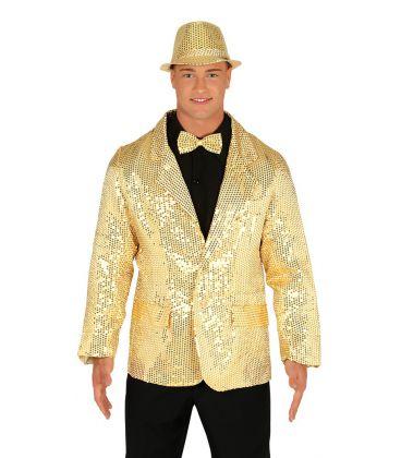 Costumi carnevale Uomo | GIACCA PAILLETTES ORO TAGLIA M Prezzo 30,10 €
