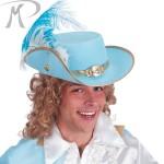 Cappello Principe Azzurro in bifloccato c/piuma