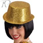 Cilindro con glitter oro