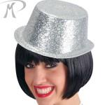 Cilindro con glitter argento