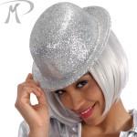 Bombetta con glitter argento