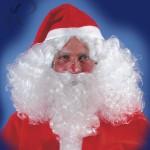 Parrucca e barba Babbo Natale in valigetta